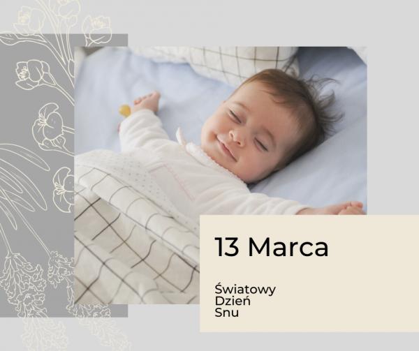 Zdrowy Sen – 13 Marca Światowy Dzień Snu